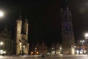 Die beleuchtete Marktkirche