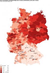 Verteilung der Kinderarmut in Deutschland