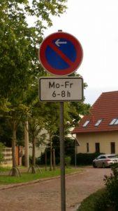 Neues Parkverbot im Waidmannsweg