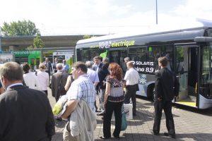 Vor zwei Jahren war bereits ein Elektrobus von Solaris in Halle bei den Stadtwerken
