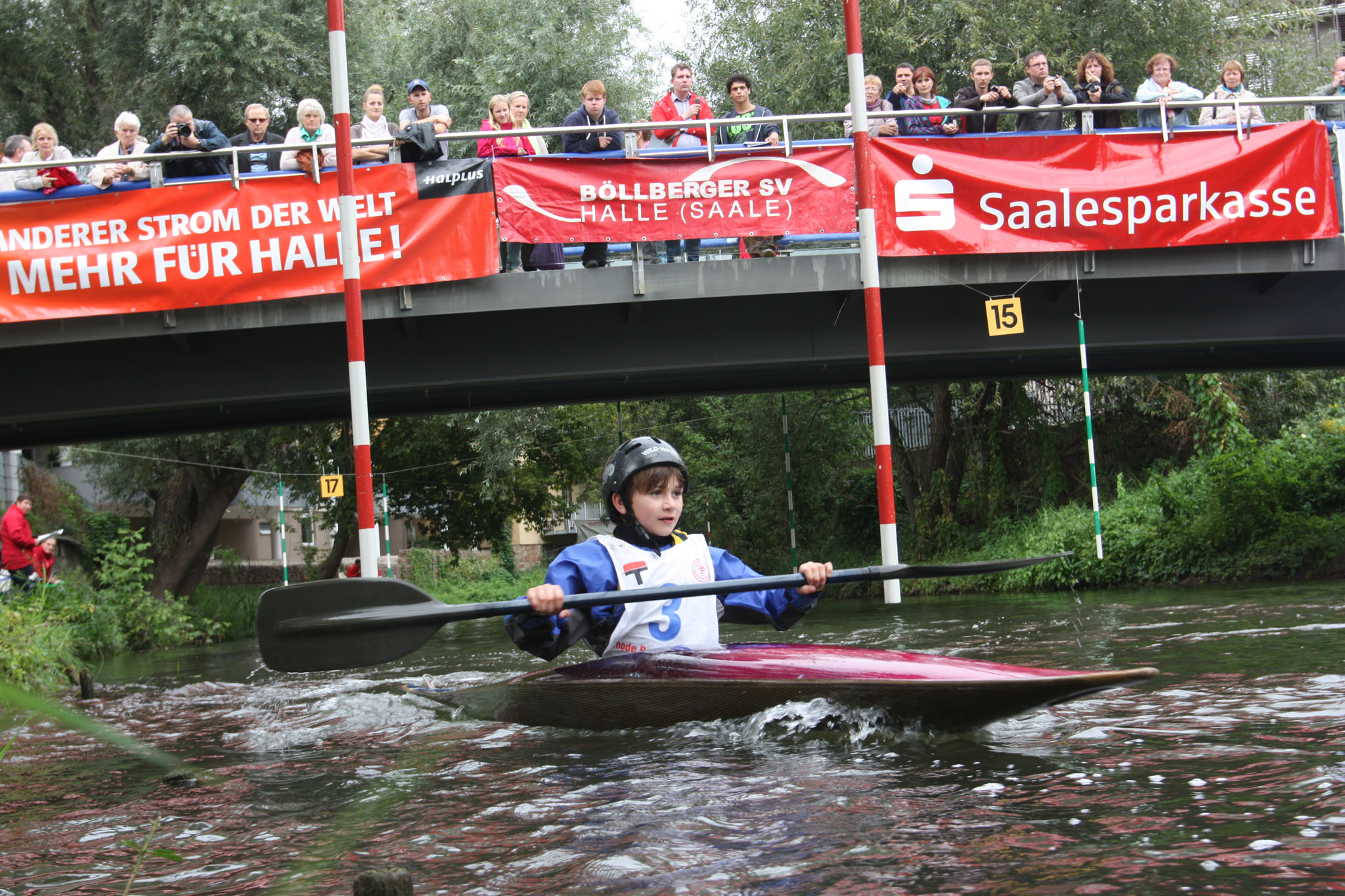 11. Kanuslalom Nachwuchswettkampf Halle/Saale