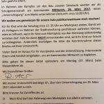 Der Brief der Schulleiterin an der Eltern