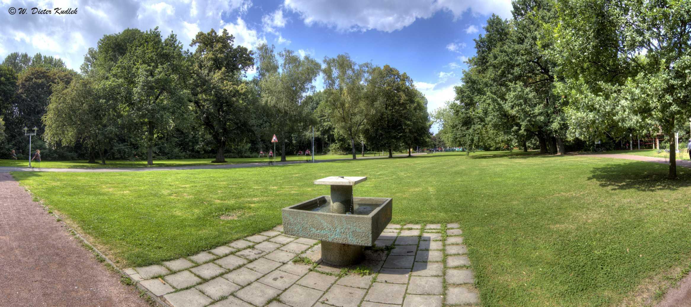 Der Trinkbrunnen auf der Peißnitz