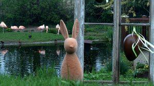 Osterdeko im Berg-Zoo Halle