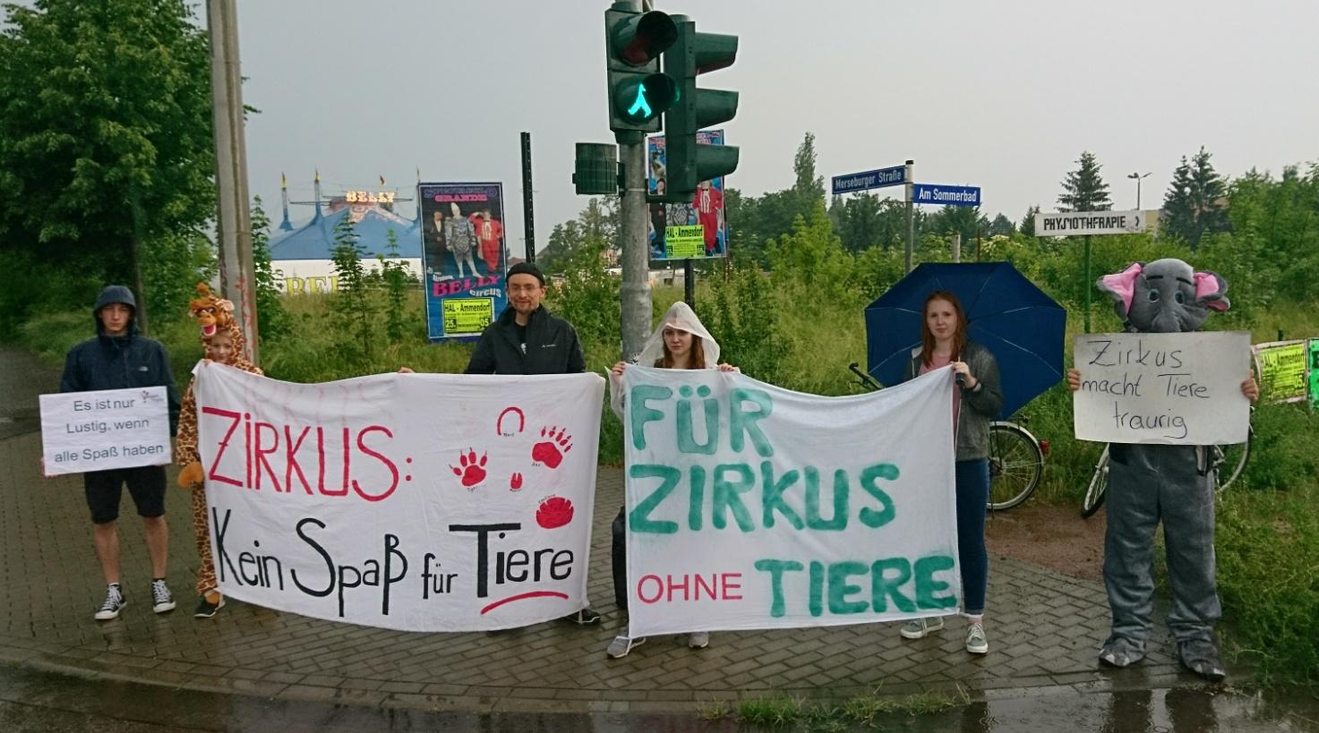 Letzter Zirkusaffe Deutschlands In Halle Kundgebung Gegen Zirkus