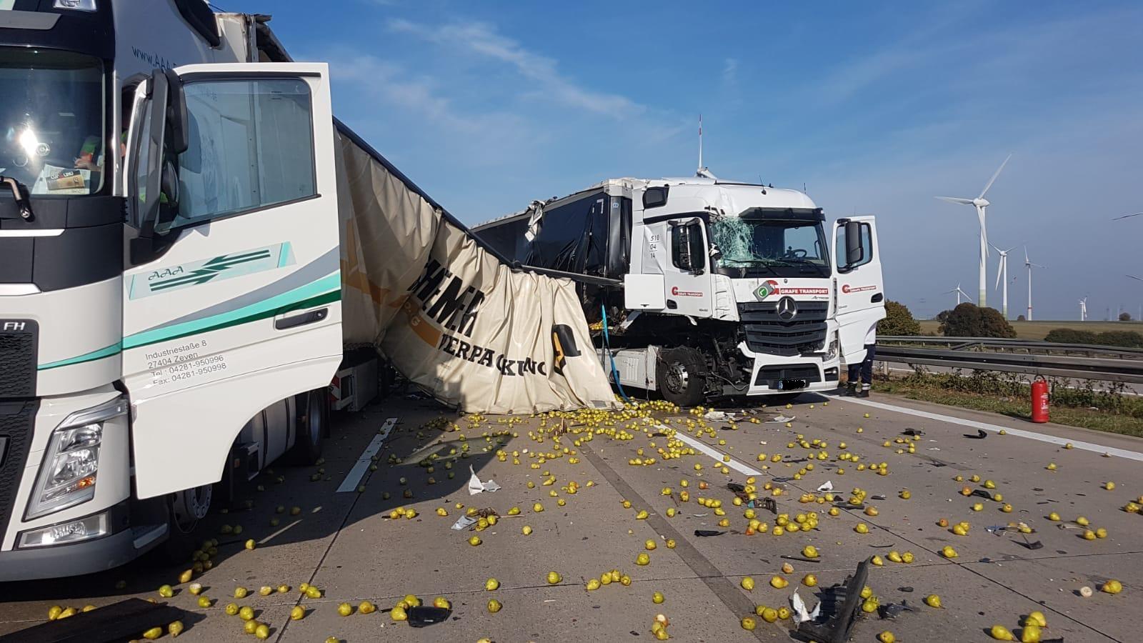 Unfall Auf Der A9 Obst Kullert über Die Autobahn Du Bist Halle