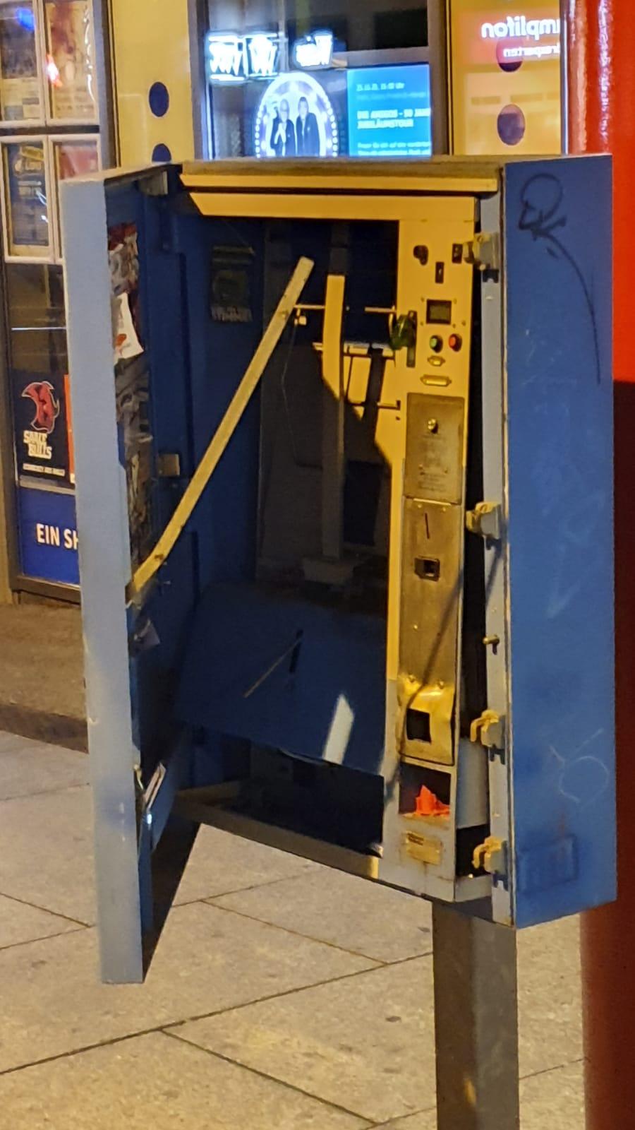 Automat Gesprengt