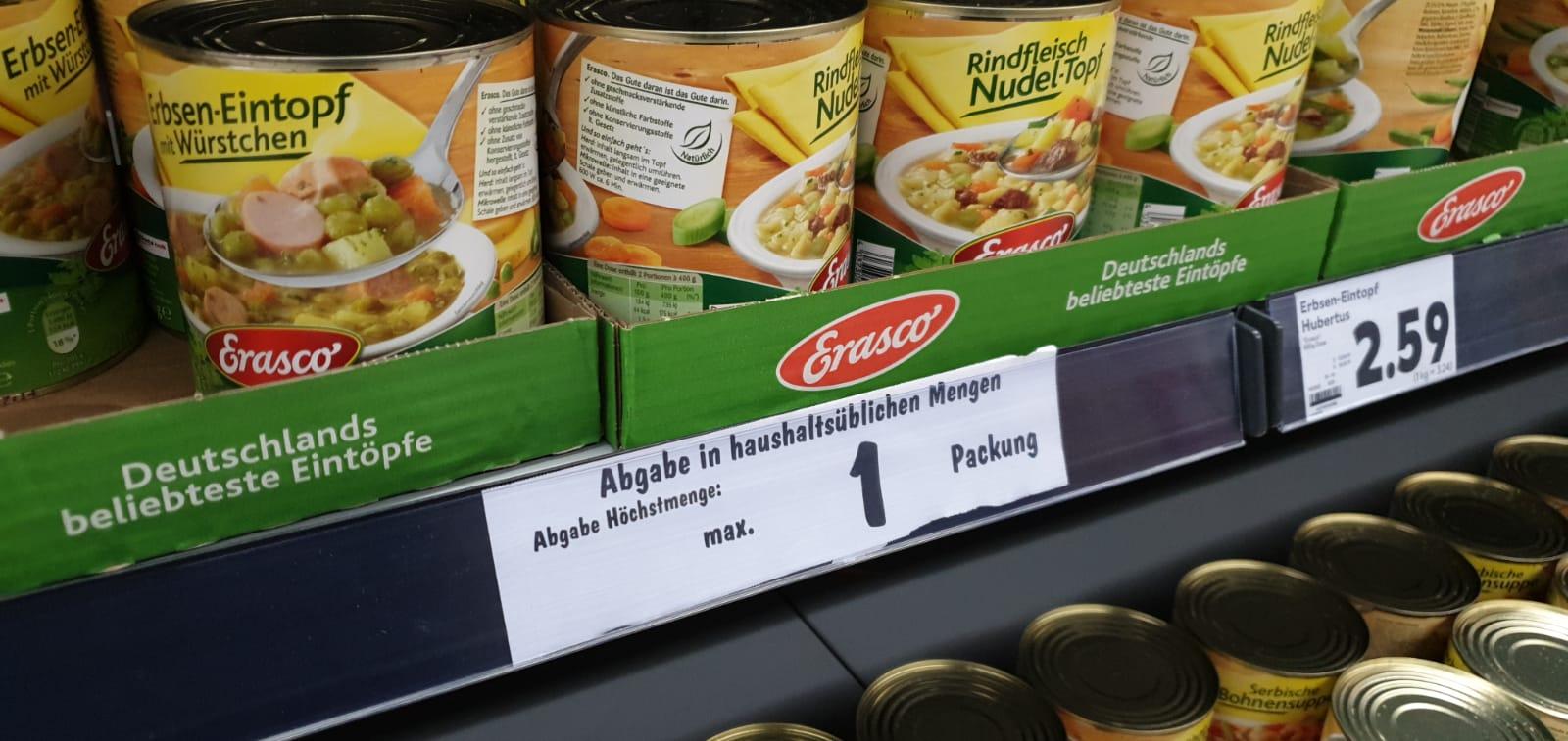 Wegen Der Corona Hamsterkaufe Supermarkte Rationieren Du Bist Halle