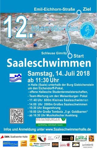 Poster 12. Int. Saaleschwimmen 2018